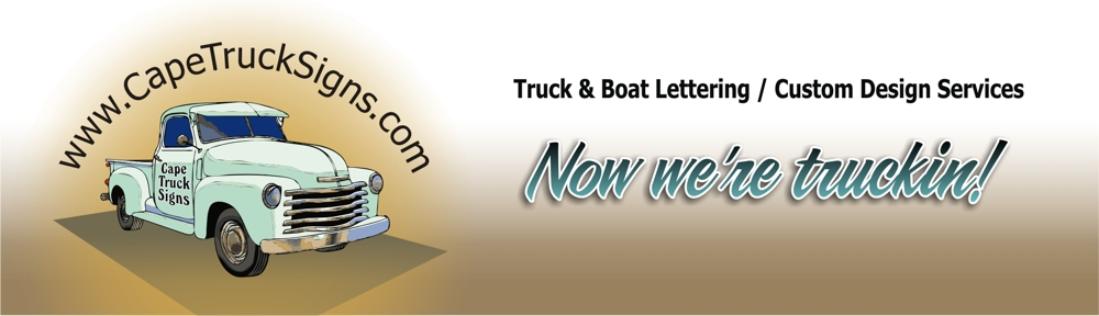 Cape Cod Truck and Boat Lettering